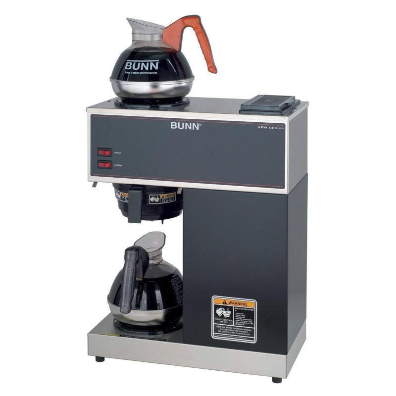 Roll over image to zoom in BUNN VPR-2EP 12-Cup Pourover Commercial Coffee Brewer Plus 2 Easy Pour Commercial Decanters