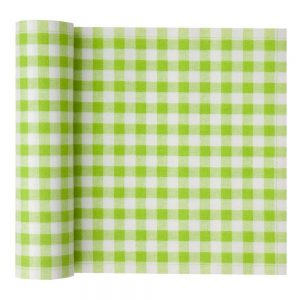 MYdrap Cotton Printed Luncheon Napkin, 8.0 x 8.0-Inch, 20-Units Per Roll, Pistachio Vichy
