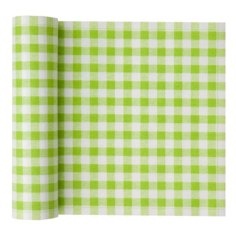 MYdrap Cotton Printed Luncheon Napkin, 8.0 x 8.0-Inch, 20-Units Per Roll, Pistachio Vichy