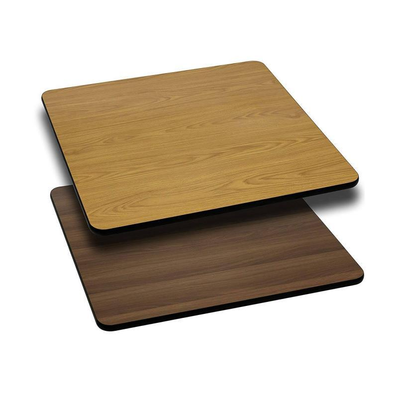 "Flash Furniture 24"" Square Table Top Natural or Walnut"