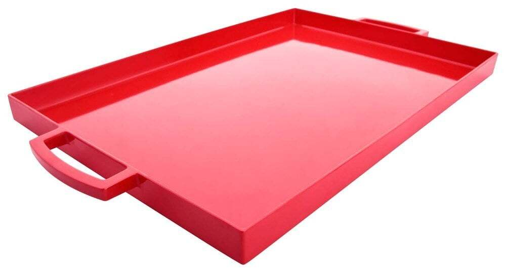 Zak Designs Pop 17 by 11-1/2-Ounce Large Rectangular Tray (Red)