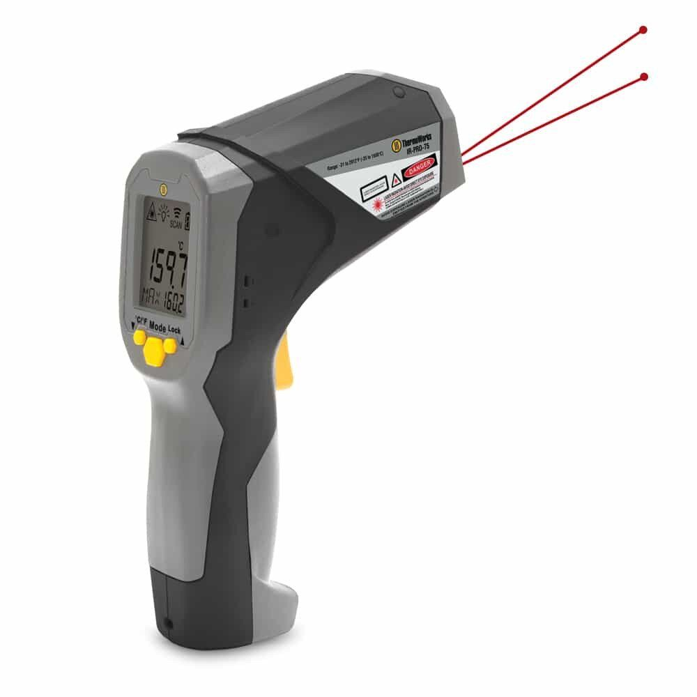 Hi-Temp Professional Infrared w/USB Interface, to 1600°C (IR-PRO-75)