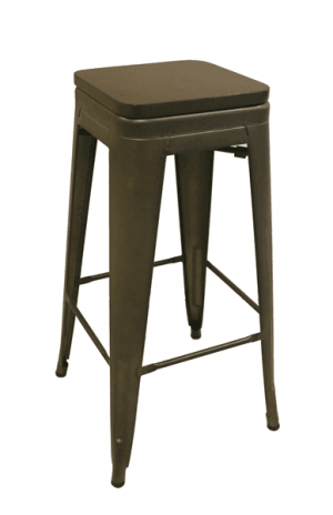 Soho Bar Height No Back Wood seat
