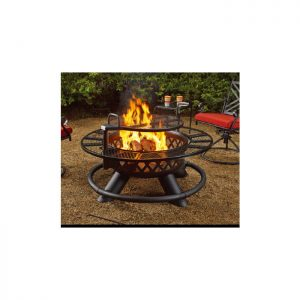 Fire Pit with Grill Function