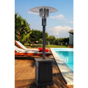Patio Heater with Tile Tabletop